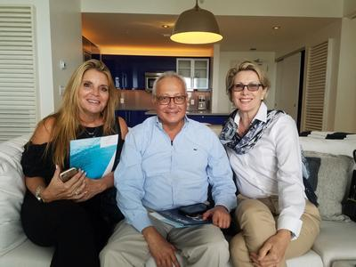 Melanie Rutkin, Fabricio Duarte and Carmen Renick