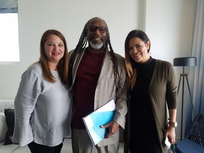Nakarid Melean, Alex Hamilton and Fany Mendez