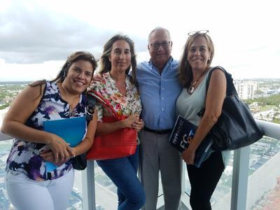 Tayme Cabezas, Isabel Moragas, Fabricio Duarte and Cecilia Pagotto