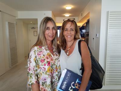 Isabel Moragas and Cecilia Pagotto