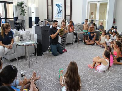 Magic and fun at the Kendall Square clubhouse! Kids got to go to the pool and then enjoyed the show!